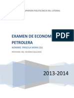 Examen de Economia Petrolera