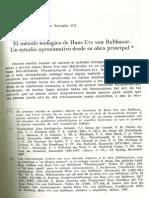 Meis W., A.-El método teológico de von Balthasar. Un estudio aproximativo (TV 30, 1989, pp.185- 206)