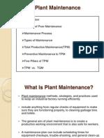 11. Plant Maintenance