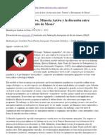Dualismo Organizativo, Minoría Activa y la discusión entre 'Partido' y 'Movimiento de Masas'