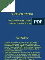 SUCESIÓN TESTADA presentacion PPT