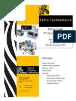 Zebra Pricelist 01 2009
