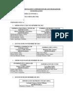 Fechas de Presentacion y Exposicion de Los Trabajos de Investigacion