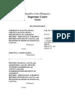 Bagongahasa vs Romualdez Jurisdiction of DARAB