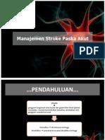 Manajemen Stroke Paska Akut