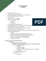 Syllabus in Civil Procedure