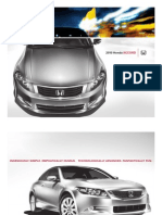 Honda Accord Sedan 2010 Brochure