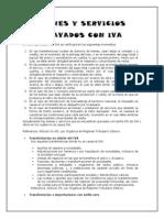 Bienes y Servicios Gravados Con Iva