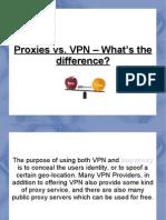 Proxies vs. VPN