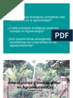 Interacciones en Los Agroecosistemas