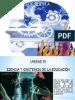 LULUCORTES UNIDAD IV ESENCIA Y EXISTENCIA DE LA EDUCACIÓN