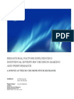 Research.VN.1.   Behavioral factors influencing individual investors' decision-making and performance - A survey at the HCMSE