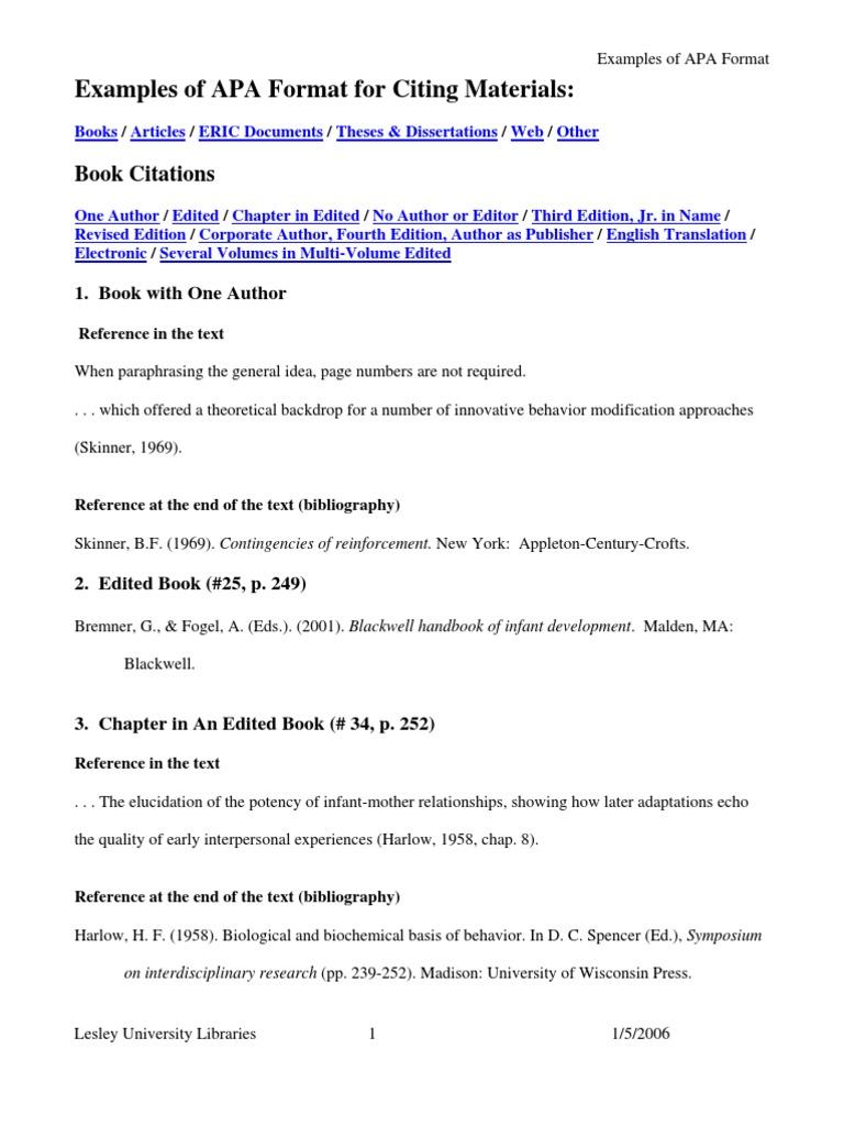 Apa Citation Format  Diagnostic And Statistical Manual Of Mental Disorders   Citation