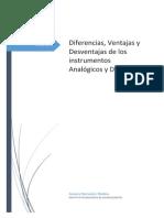 Metrologia y Normalizacion- 3.3 Diferencias, Ventajas y Desventajas de Los Instrumentos Analogicos y de Investigacion