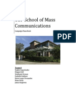 Plans Book- USF School of Mass Communications #IAMSMC Campaign