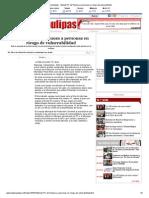 06-12-2013 'Atiende PC de Reynosa a personas en riesgo de vulnerabilidad'.