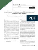Azithromycin vs. Chloramphenicol