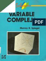 Variable Compleja - Serie Schaum - Murray Spiegel - En Español