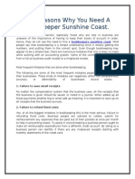 Top Reasons Why You Need a Bookkeeper Sunshine Coast.