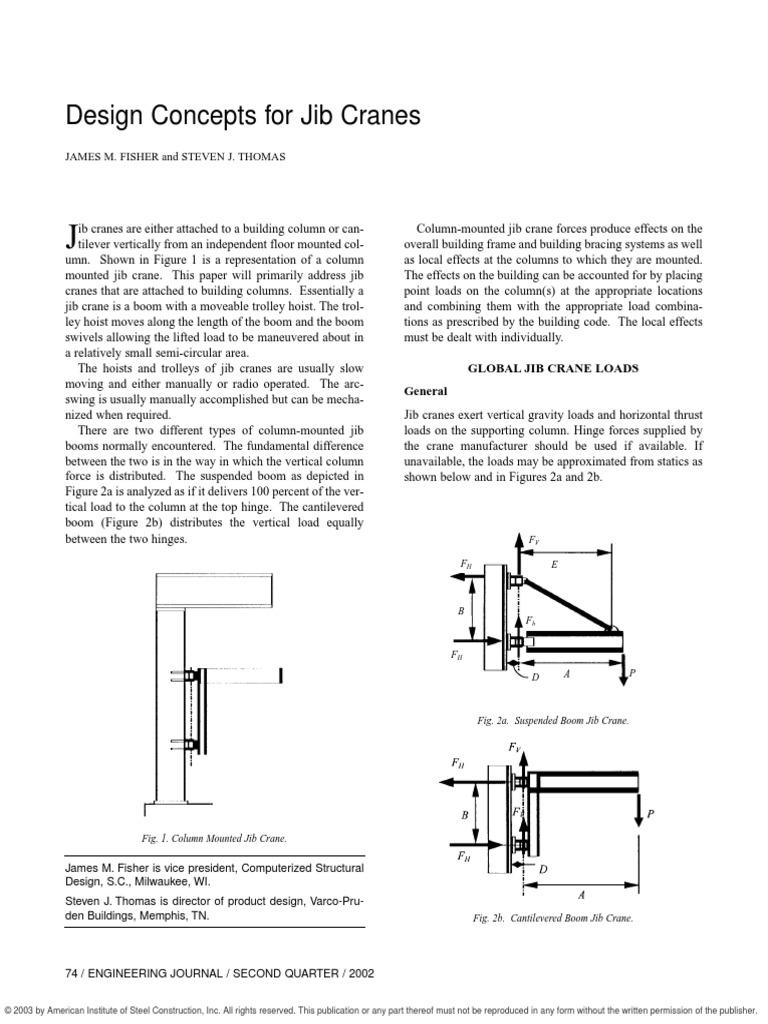 Design Concept for Jib Crane | Crane (Machine) | Bending