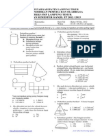 Soal UAS Matematika Kelas 9 TP 2012-2013