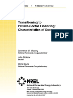 Transitioning to Privatesector Financing Characteristics Of4878