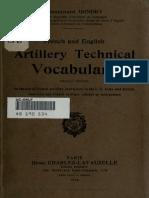 English Artillery Technical Vocabulary - France 1918