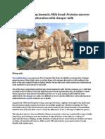 The Koyal Group Journals, Milk fraud