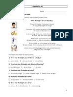 English Test A1