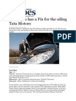 Karl Slym Has a Fix for the Ailing Tata Motors