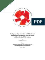 Analyze of Prestressed BFRP RC Beams