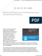 Backup and Restore Your Android Device Using ClockWorkMod Recovery