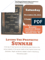 Loving The Prophetic Sunnah