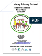 East Hunsbury School Prospectus New Intake 2013-14
