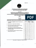 SPM Trial 2009 AddMath (Perlis)