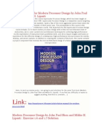 Full Solution Manual for Modern Processor Design by John Paul Shen and Mikko H. Lipasti