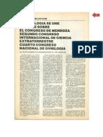 Congreso de Ovnilogía en Mendoza, 1980. Fuente