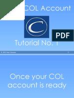 Using Col Account Tutorial 1