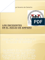 Los Incidentes Juicio de Amparo