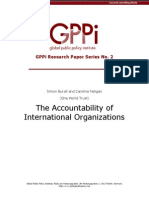 The Accountability of International Organizations