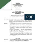 Permendiknas No. 41 Tahun 2007 Tentang Standar Proses
