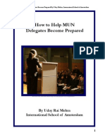 how to help mun delegates become prepared