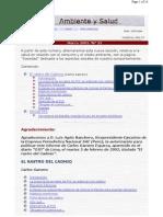 Vivat Academia - Marzo 2002. Nº 33 - Ambiente y Salud - El Rastro del Cadmio (Carlos Gamero Esparza)