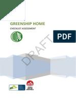 Greenship Home Checklist Assessment