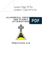 GOLDEN DAWN 3=8 Alchemical Sephiroth and Planet Attributions