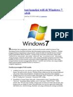 Cara Mengatasi Koneksi Wifi Di Windows 7 Yang Bermasalah