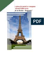 Pe Fiecare Piesa de Metal Ce Compune Turnul Eiffel Scrie