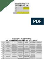 Horario Examen Final