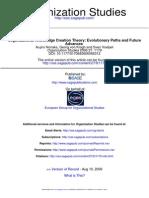 Organizational Knowledge Creation Theory - Evolutionary Paths and Future Advances