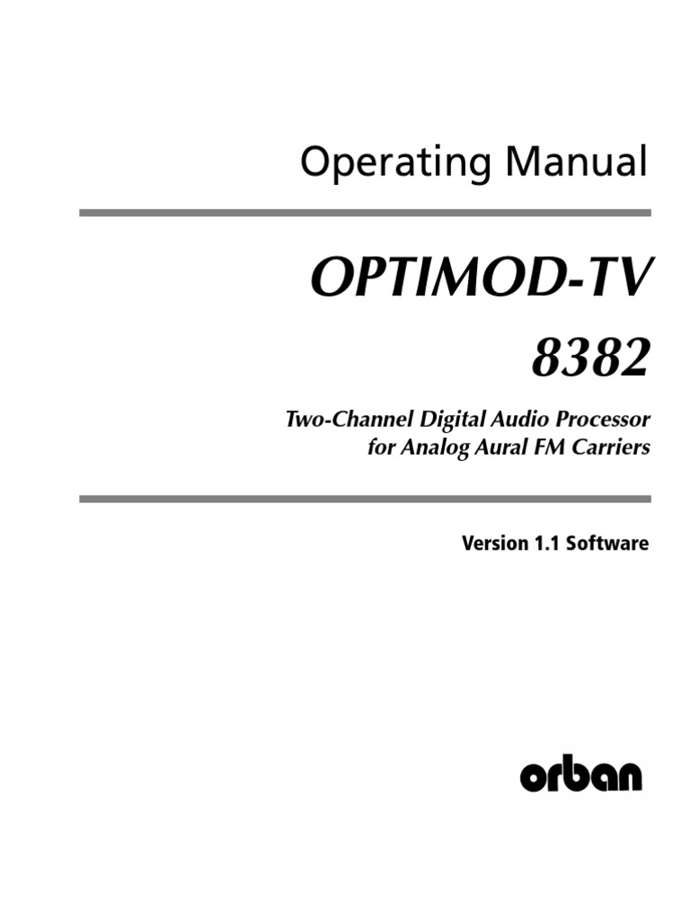 8382 1.1.0 Operating Manual Rev 02 | Electrical Connector | Electromagnetic  Interference